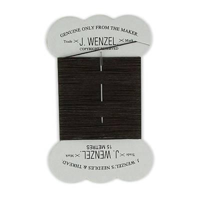 Fil de lin cardé satiné - 15 mètres - 18/3 - Marron chocolat