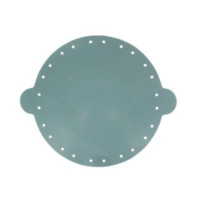 Cuir déjà coupé pour faire une bourse en cuir BLEU FONCÉ - Diamètre 20 cm