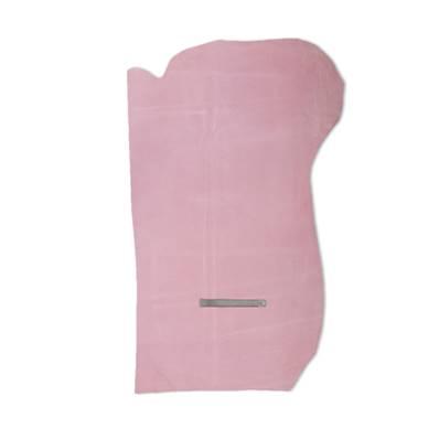 Croûte de cuir de veau - velours - ROSE DRAGEE - 2' choix