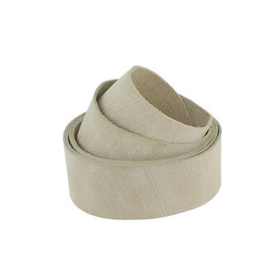 Sangle IVOIRE - Veau lisse souple effet brossé - Largeur 38 mm