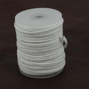 Lacet en cuir plat - largeur 3 mm - BLANC