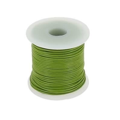 Lacet en cuir rond - diam 1 mm - VERT FOUGERE