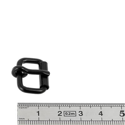 Boucle à rouleau à ardillon - NOIR MAT - 16 mm
