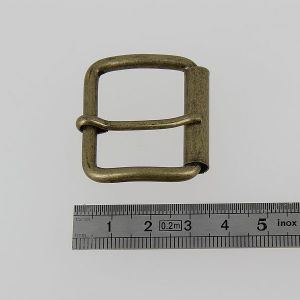 Boucle à rouleau à ardillon - LAITON VIEILLI - 30 mm