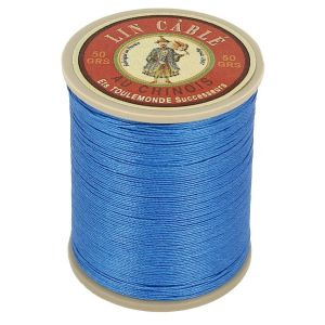 Bobine fil de lin au chinois câblé glacé - 332 - BLEU ROY 665