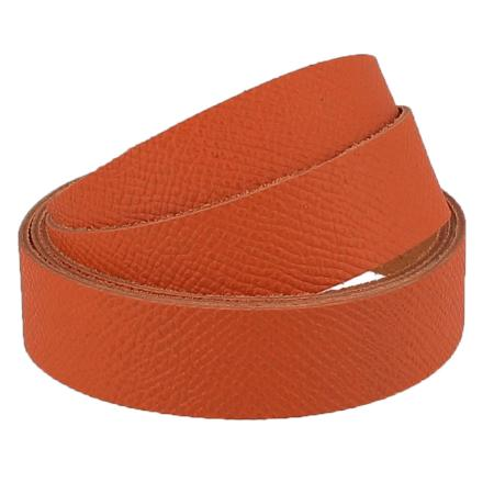 Sangle ORANGE BRIQUE - Grain dauphin - Largeur 19 mm