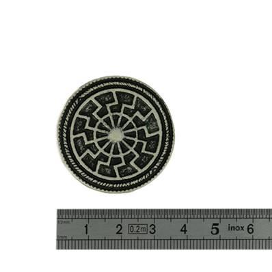 Concho ROUE - 35 mm - Argent vieilli