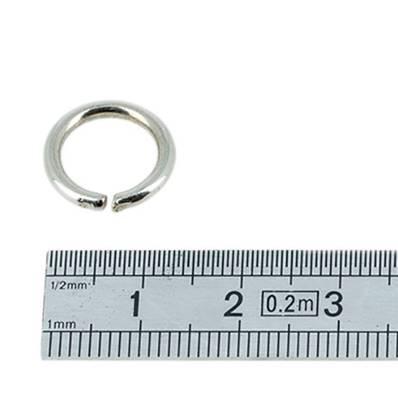 Anneau rond - acier NICKELE - 10 mm - Fil 2 mm