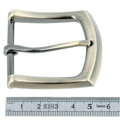 Boucle de ceinture - LAITON VIEILLI SATINE - 40 mm