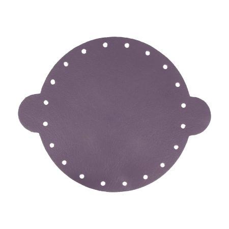 Cuir déja coupé pour faire une bourse en cuir VIOLET - Diamètre 20 cm