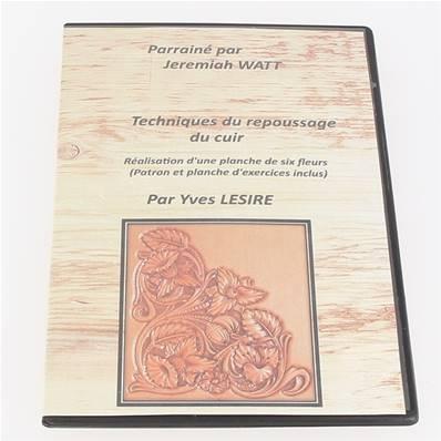 """DVD """"Techniques du repoussage du cuir - Réalisation d'une planche de 6 fleurs"""" par Yves LESIRE"""