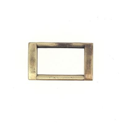 Passant rectangulaire plat - LAITON VIEILLI SATINÉ - 25x14 mm