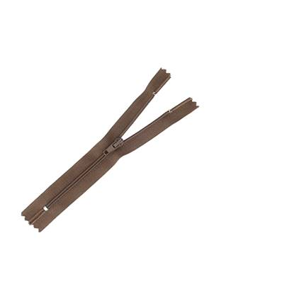 Fermeture à glissière NYLON #4 - MARRON - Longueur 14 cm