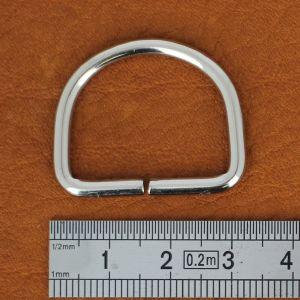 Anneau demi rond - acier NICKELÉ - 25x20x3 mm