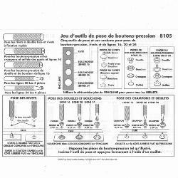 Jeu d'outils de pose pour boutons pressions et rivets - 8105