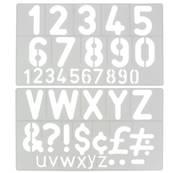 Trace-lettres - Majuscules, minuscules, chiffres et symboles - Hauteur 50 mm