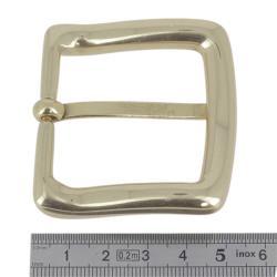 Boucle en laiton massif - LUC - LAITON BRUT - 40 mm
