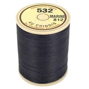 Bobine fil de lin au chinois câblé glacé - 532 - BLEU MARINE 812