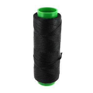 Bobine de fil polyester tressé et ciré - 100 mètres - diam 1 mm - NOIR