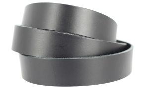 Lanière de cuir de collet - NOIR - Larg 29 mm - Long 110 cm