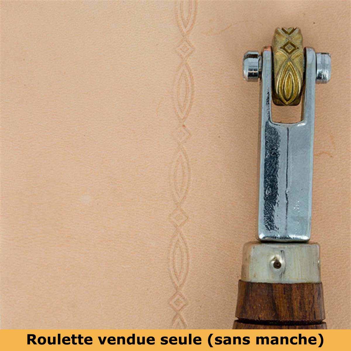 Roulette d'embossage 8091-14 montée sur manche