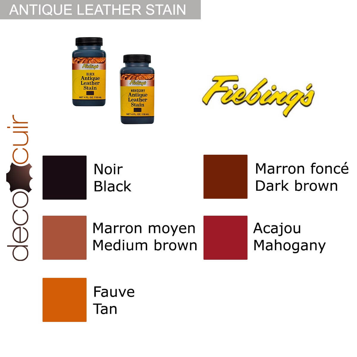 Patine après teinture - Antique Leather Stain Fiebing's - NOIR / BLACK
