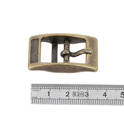Boucle double KIM - LAITON VIEILLI - 16 mm