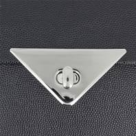 Fermoir plaque triangle pour sac - NICKELE - 70x35 mm
