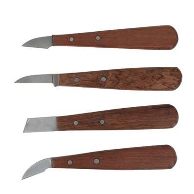 Lot de 4 couteaux pour travail du cuir