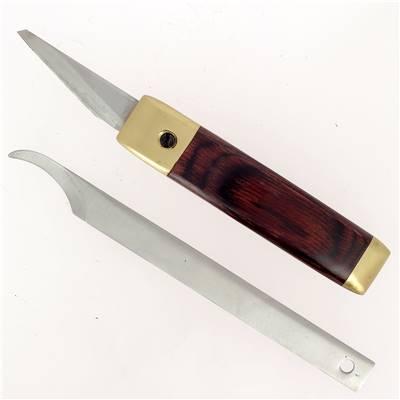 Couteau polyvalent à lame interchangeable - Bois et Laiton