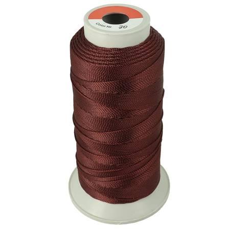 Bobine de fil polyester N°8 - 200 m - Bordeaux
