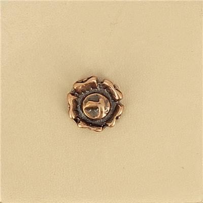 Lot de 6 conchos FLEUR - 11 mm - Vieux cuivre