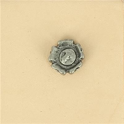 Lot de 6 conchos FLEUR - 11 mm - Vieux nickel