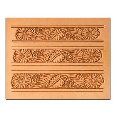 Calque réutilisable pour le transfert de motifs sur cuir - CEINTURE FLORAL #2