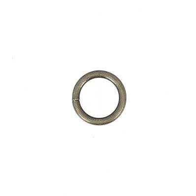 Anneau rond soudé - acier LAITON VIEILLI - 20 mm - Fil 4 mm