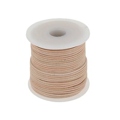 Lacet en cuir rond - diam 1 mm - NATUREL
