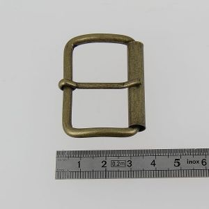 Boucle à rouleau à ardillon - LAITON VIEILLI - 40 mm