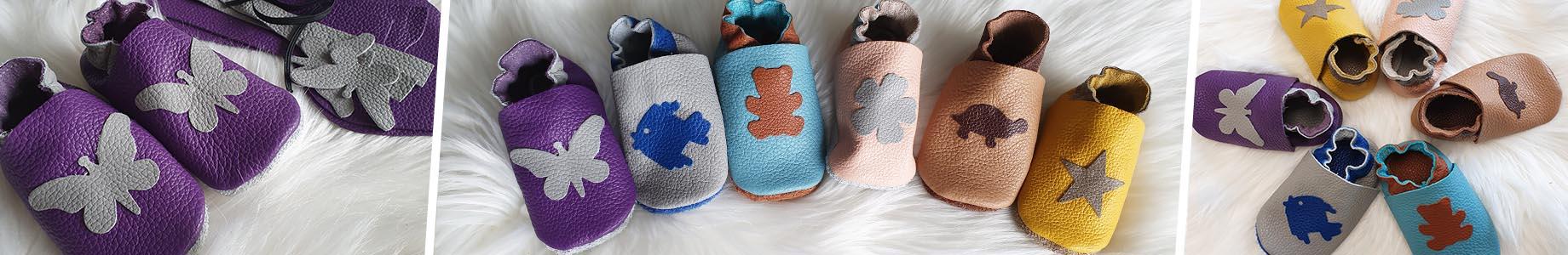 kit chaussons bébé cuir