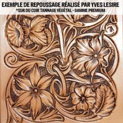 Cuir de collet végétal naturel PREMIUM - 30 x 40 cm - ep= 3,3 mm
