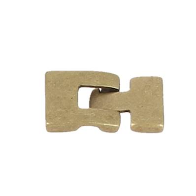 Fermoir bijou TESSA - Lacet plat 13 mm - LAITON MAT