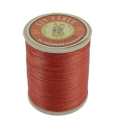 Bobine fil de lin au chinois câblé glacé - 332 - CUIVRE 333