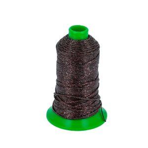 Bobine de 70 m de fil polyester tressé et poissé - diam 1 mm - BRONZE