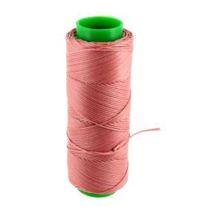Bobine de fil polyester tressé et ciré - 100 mètres - diam 1 mm - VIEUX ROSE