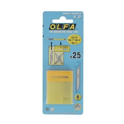 Lot de 25 lames de rechange pour le scalpel OLFA AK-1