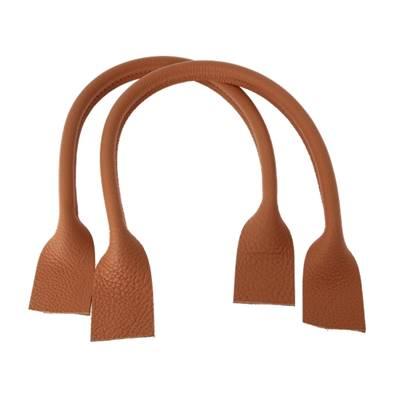 Paire de anses en cuir pour sac à main - FAUVE - Longueur 51 cm