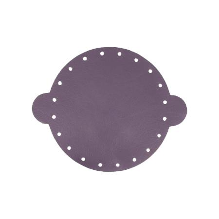 Cuir déja coupé pour faire une bourse en cuir VIOLET - Diamètre 14,5 cm