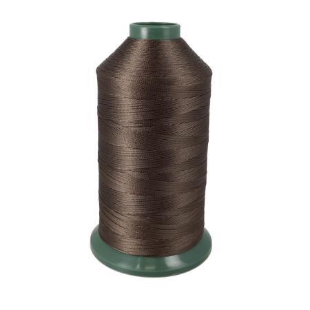 Bobine de fil polyester retors N° 20 - 1500 mètres - Marron
