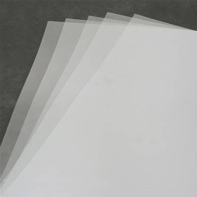 5 feuilles de plastique transparent type Mica - format A4
