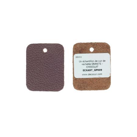 Échantillon de cuir de vachette GRANITE - CHOCOLAT
