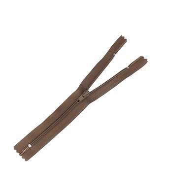 Fermeture à glissière NYLON #4 - MARRON - Longueur 16 cm